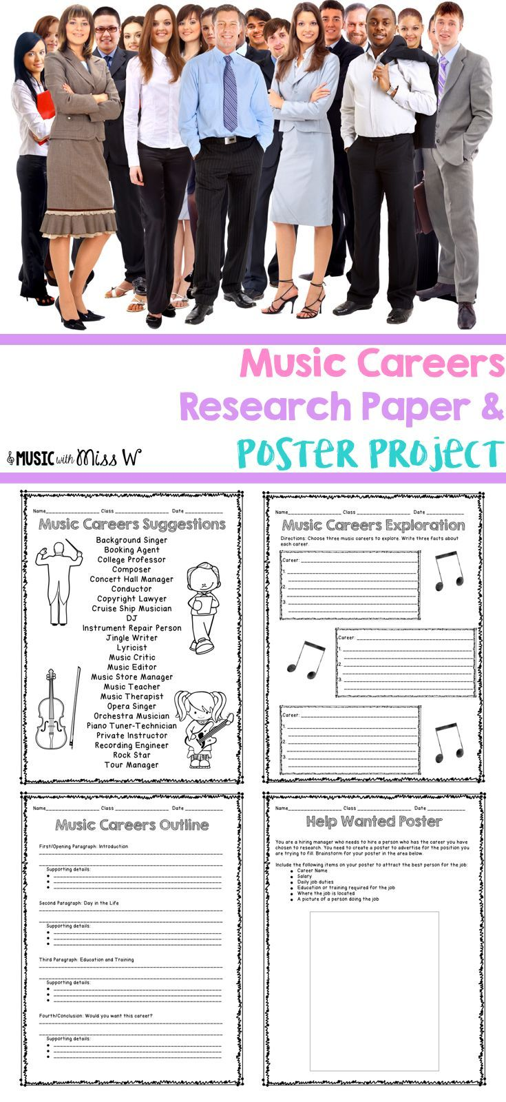 009 Research Paper Career Outline Middle School Dreaded Full