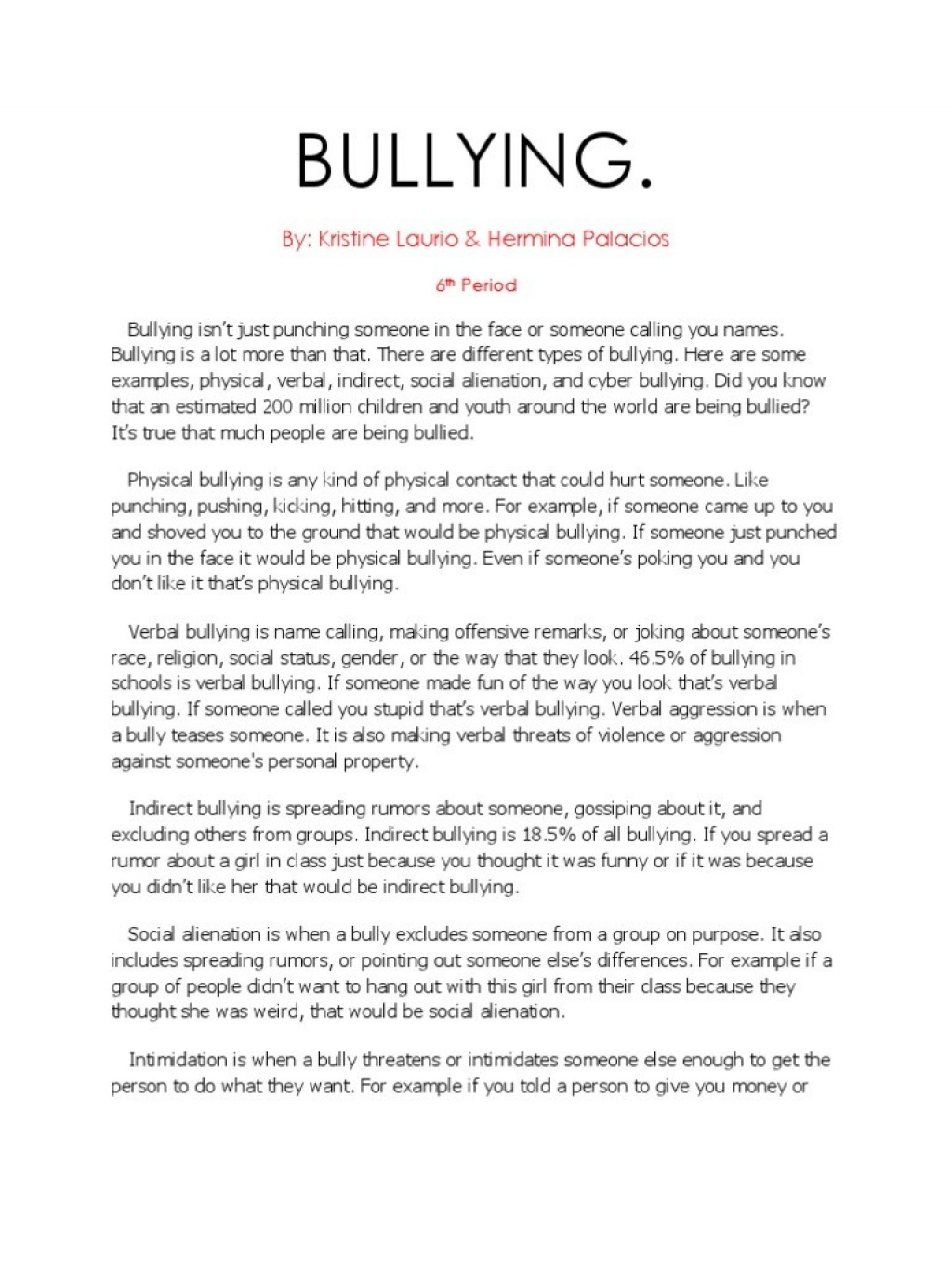 009 Research Paper Cyberbullying Example Uncategorized Bullying Essays Essay Breathtaking Sample Large