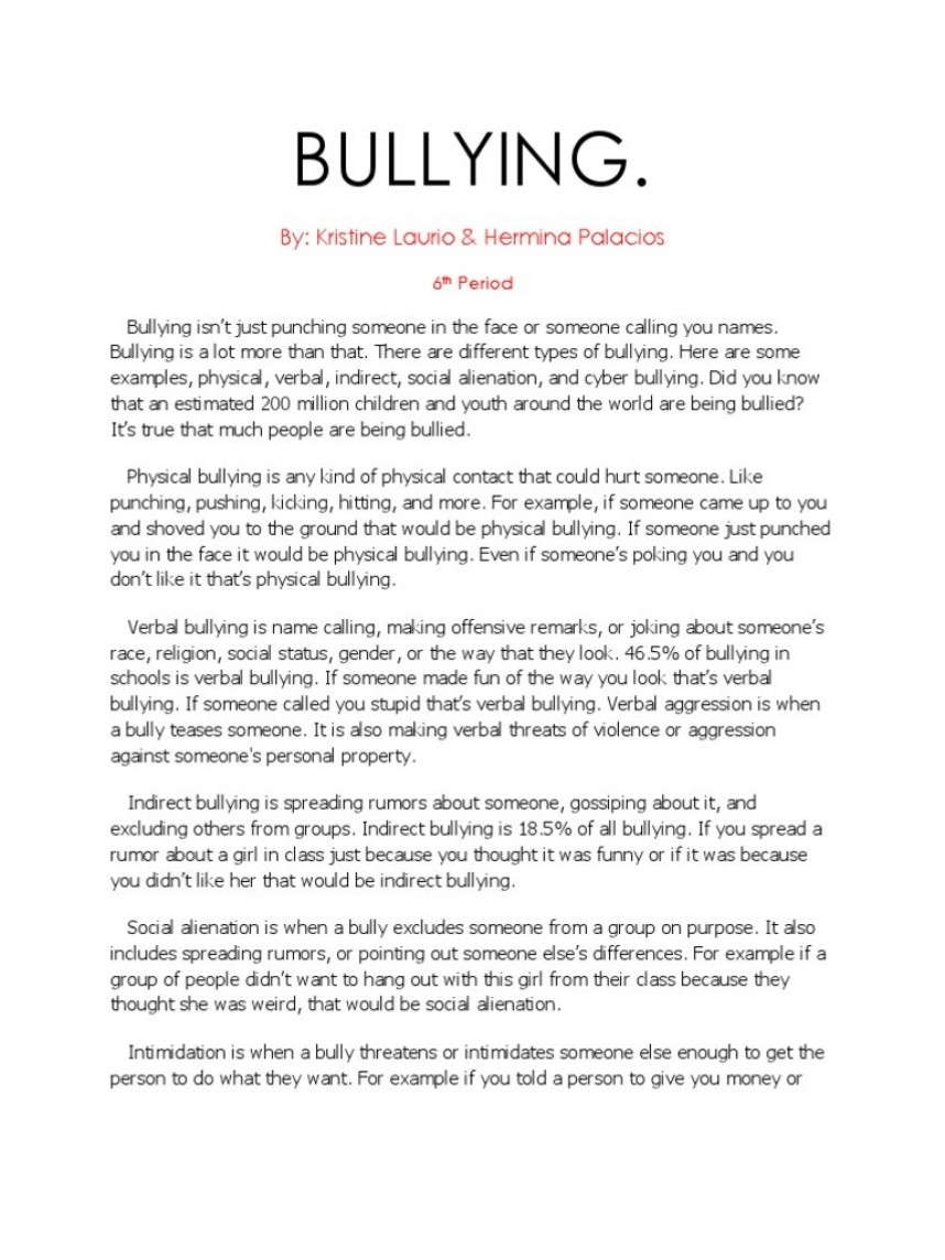 009 Research Paper Cyberbullying Example Uncategorized Bullying Essays Essay Breathtaking Sample
