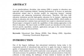 009 Research Paper Educational Data Mining Papers Pdf Sensational
