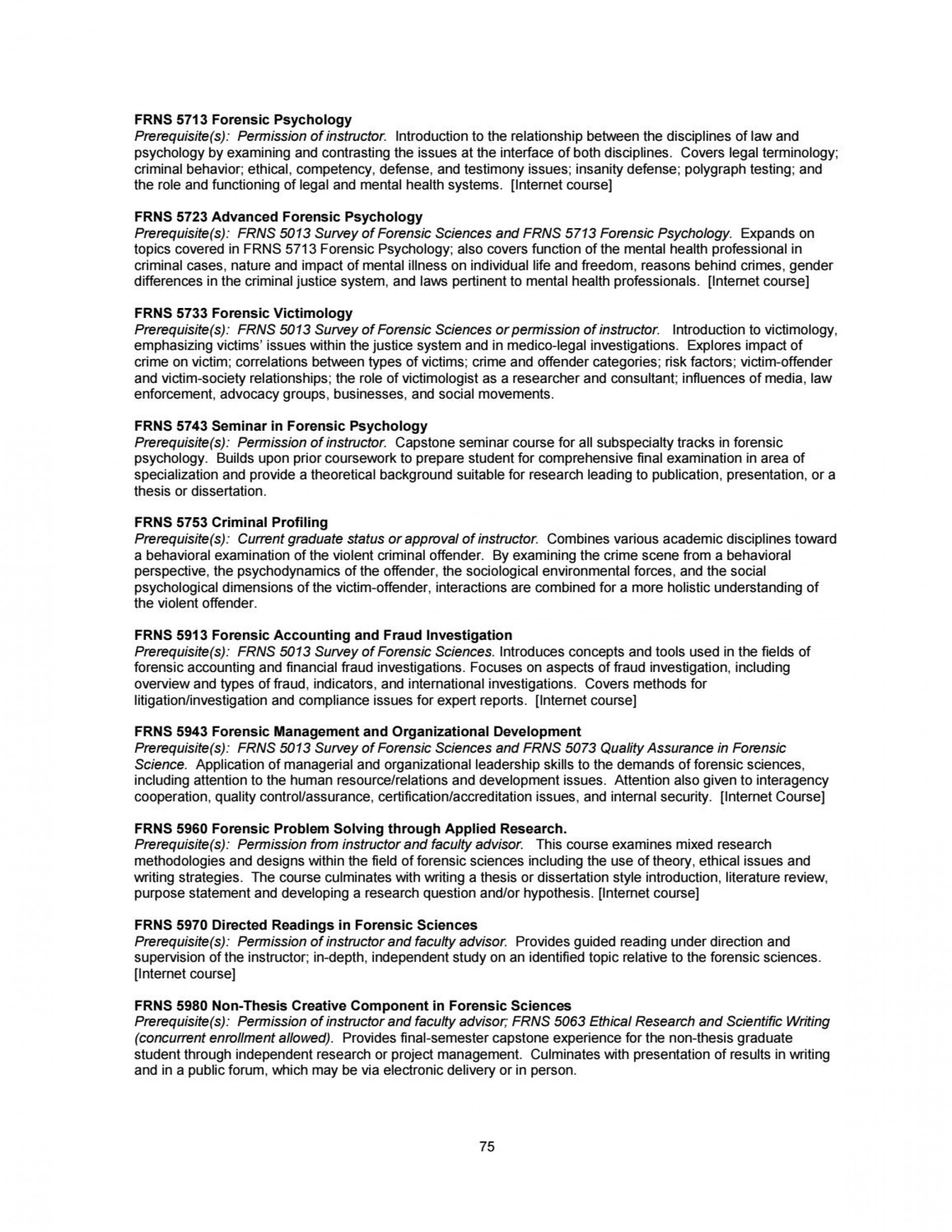009 Research Paper Forensic Psychology Topics For Page 75 Unique 1920
