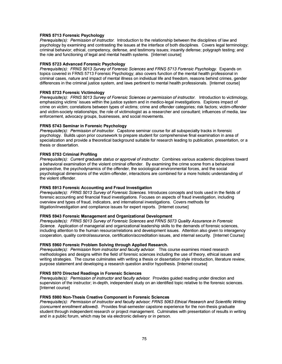 009 Research Paper Forensic Psychology Topics For Page 75 Unique Full