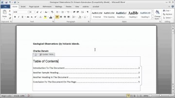009 Research Paper How To Make Table Of Contents In Exceptional A 360
