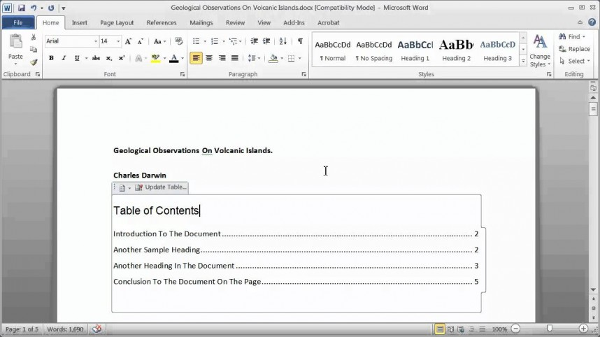 009 Research Paper How To Make Table Of Contents In Exceptional A