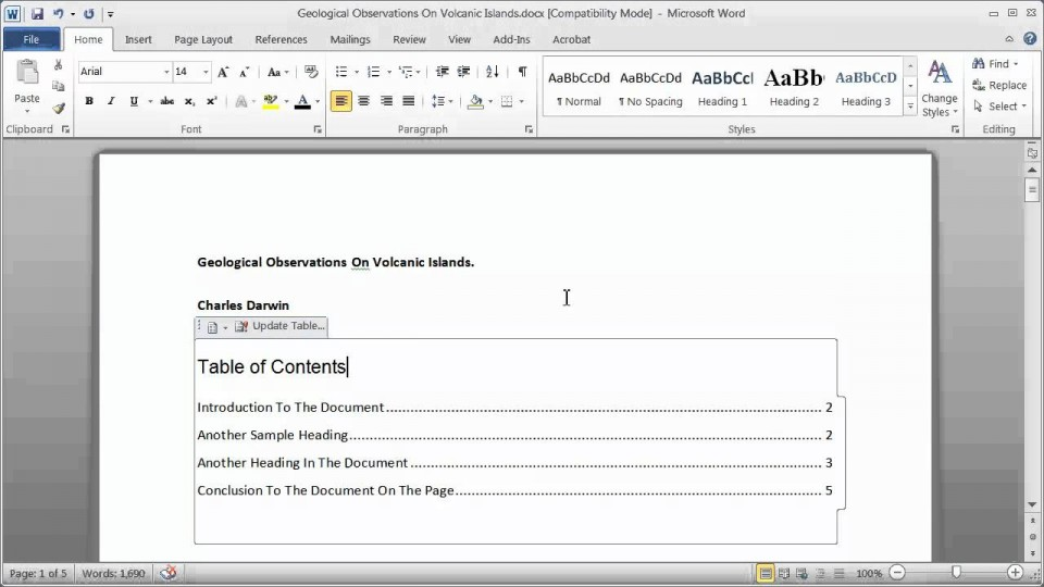 009 Research Paper How To Make Table Of Contents In Exceptional A 960