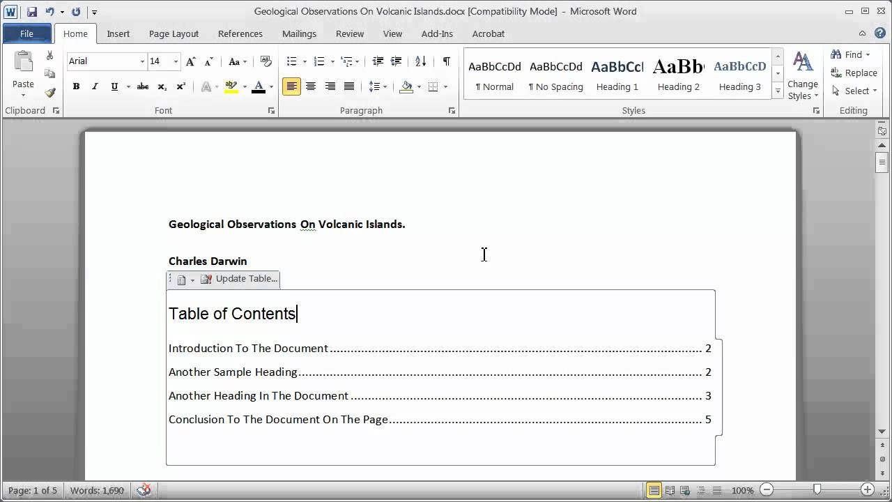 009 Research Paper How To Make Table Of Contents In Exceptional A Full