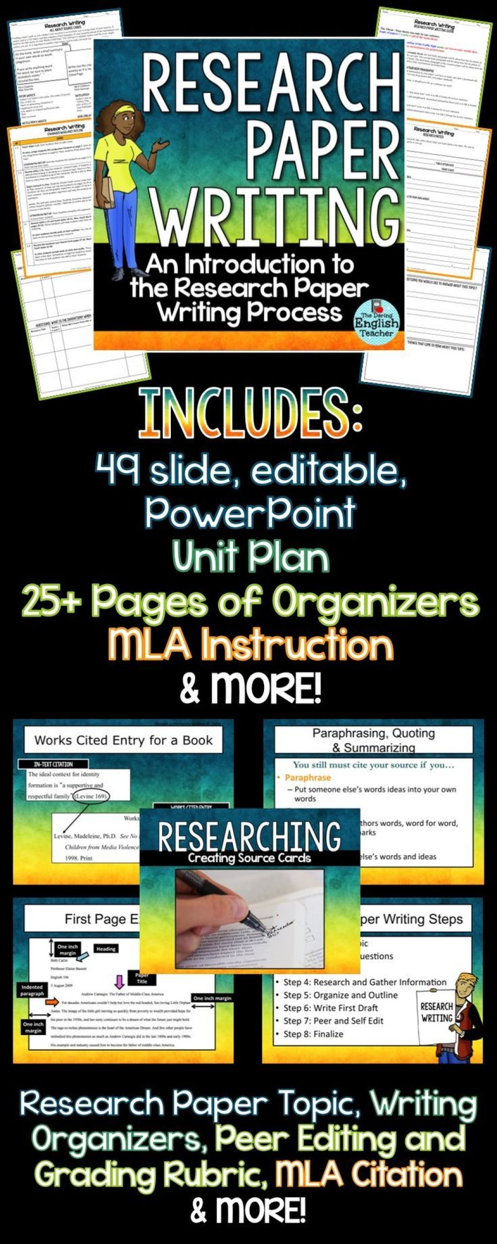 009 Research Paper How To Prepare Unique Ppt Large