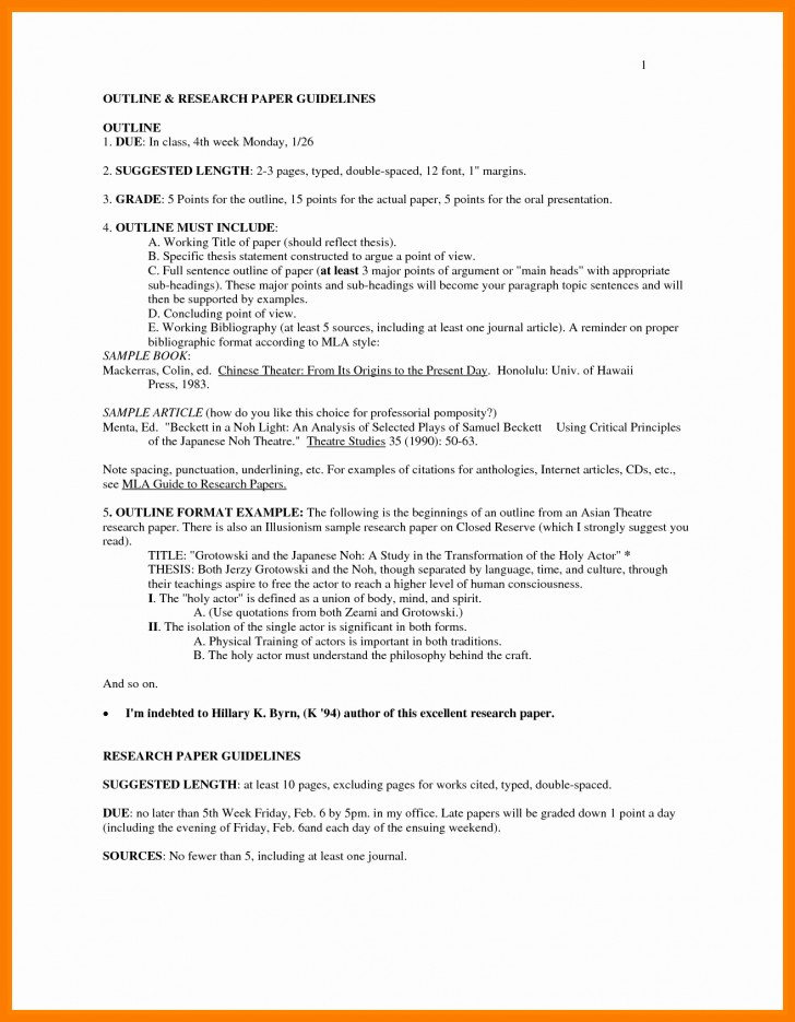 009 Research Paper In Mla Format Unique Sample Pages Style Of Stupendous Papers Example Works Cited College Writing 728