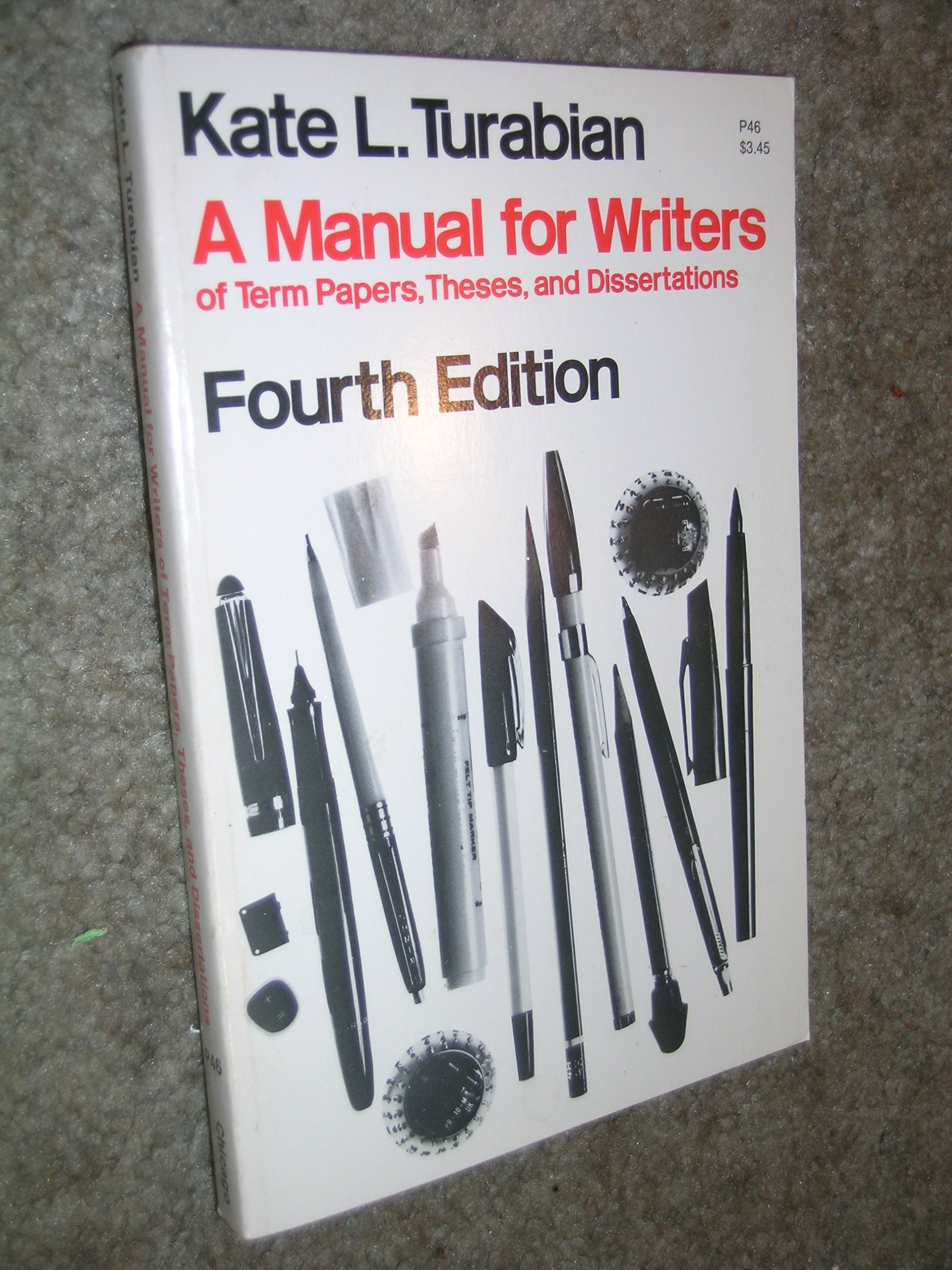 009 Research Paper Manual For Writers Of Papers Theses And Dissertations 8th Imposing 13 Full