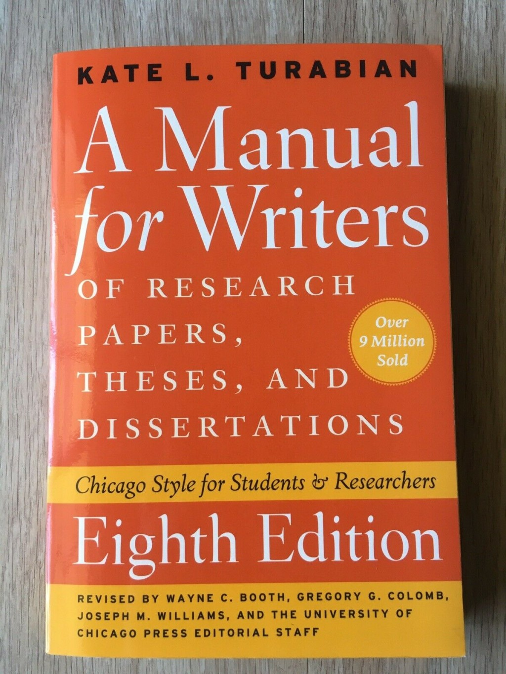 009 Research Paper Manual For Writers Of Papers Theses And Dissertations S Fearsome A Ed 8 Large