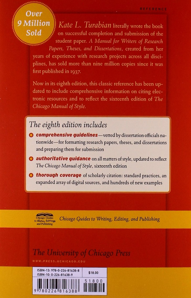 009 Research Paper Manual For Writers Of Papers Theses And Dissertations Turabian Amazing A Pdf 728