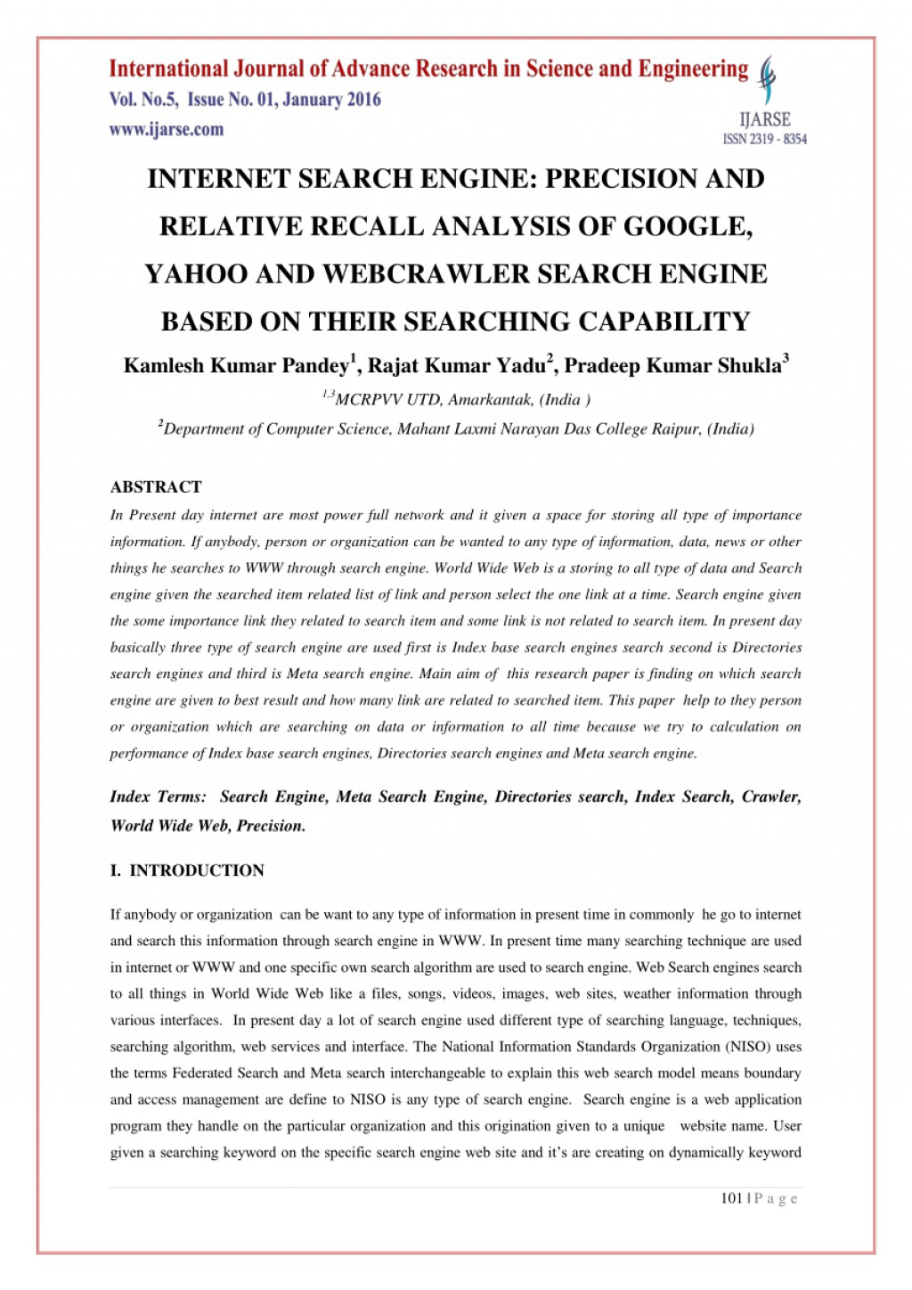 009 Research Paper Meta Search Engine Formidable Large