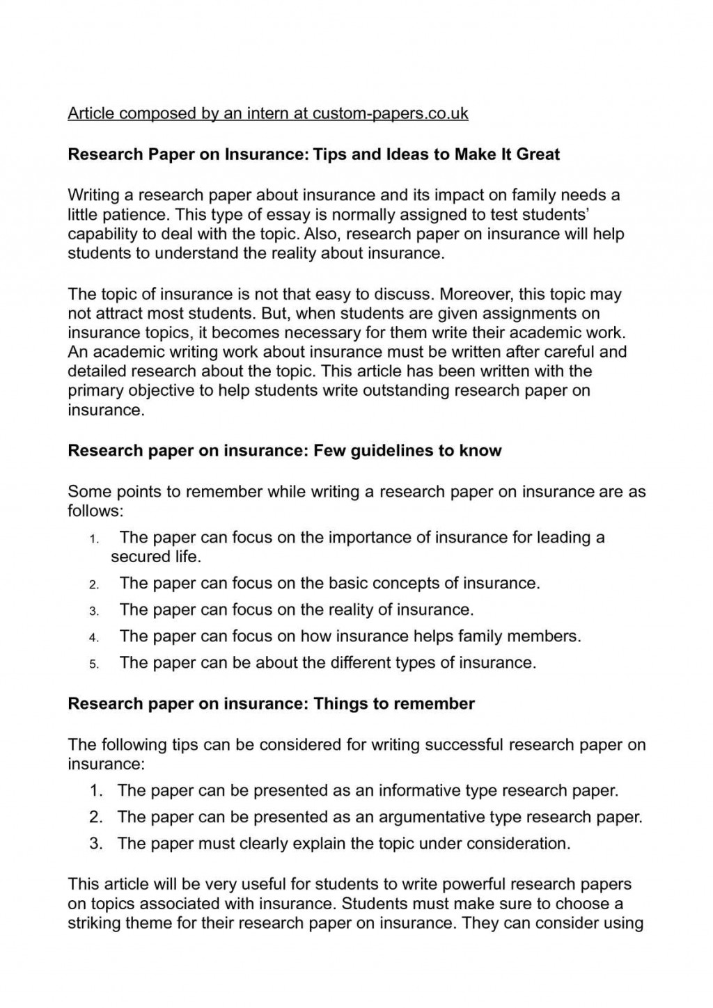 009 Research Paper P1 Type Of Exceptional Papers Types High School Ppt Apa Large
