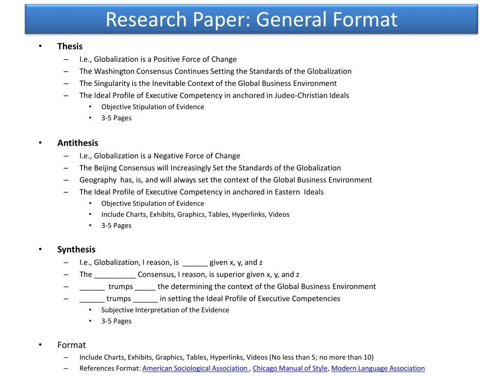 009 Research Paper Powerpoint Presentation Format For General Unique Sample Ppt Large