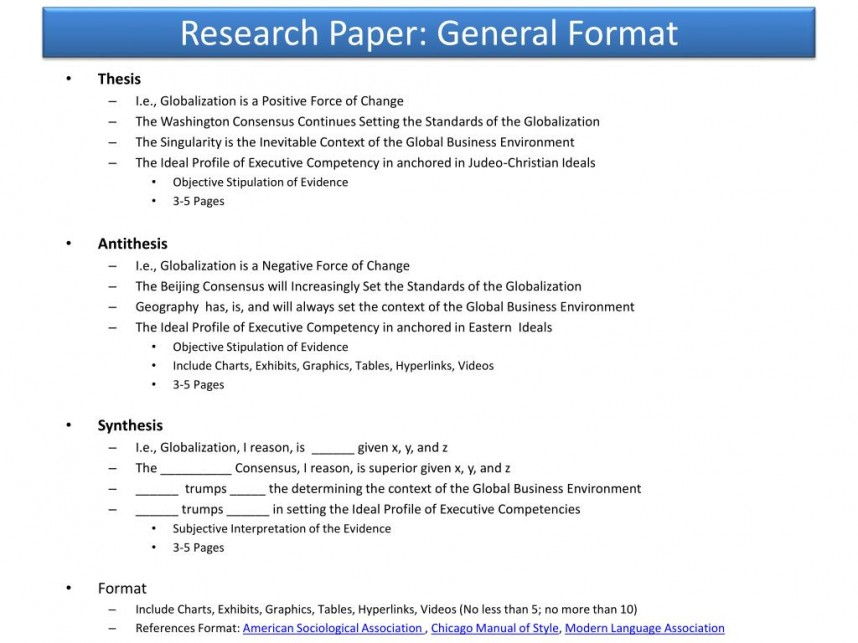 009 Research Paper Powerpoint Presentation Format For General Unique Sample Ppt 868