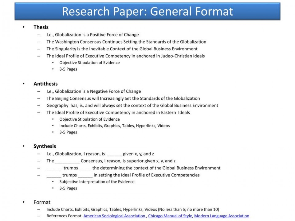 009 Research Paper Powerpoint Presentation Format For General Unique Sample Ppt 960