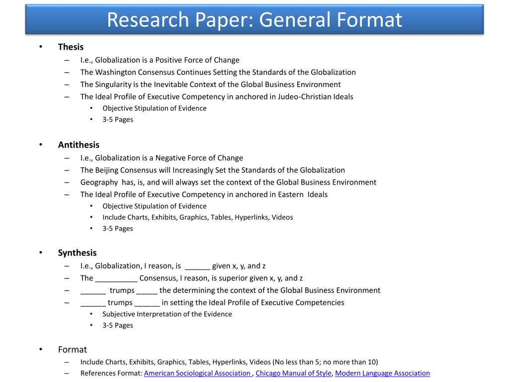 009 Research Paper Powerpoint Presentation Format For General Unique Sample Ppt Full