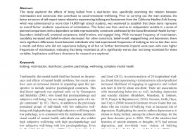 009 Research Paper Psychological Effects Of Breathtaking Bullying 320