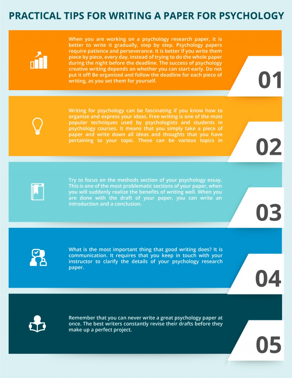 009 Research Paper Tips Infographic Practical For Writing Psychology  Awesome College Students ALarge