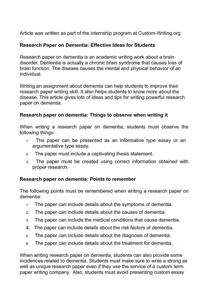 009 Research Paper Unique Ideas Imposing 2017 Topic For High School Students In Psychology 728