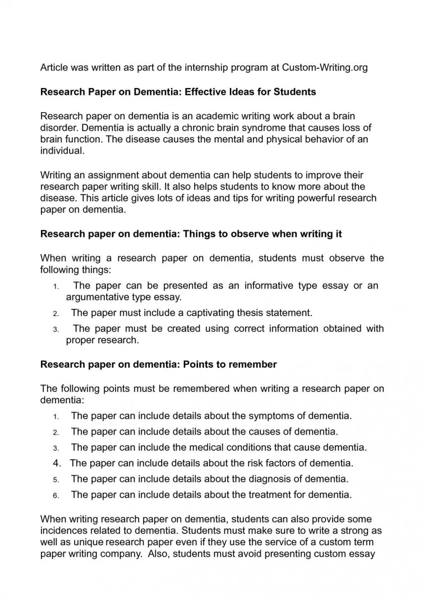 009 Research Paper Unique Ideas Imposing Science In Psychology 2017