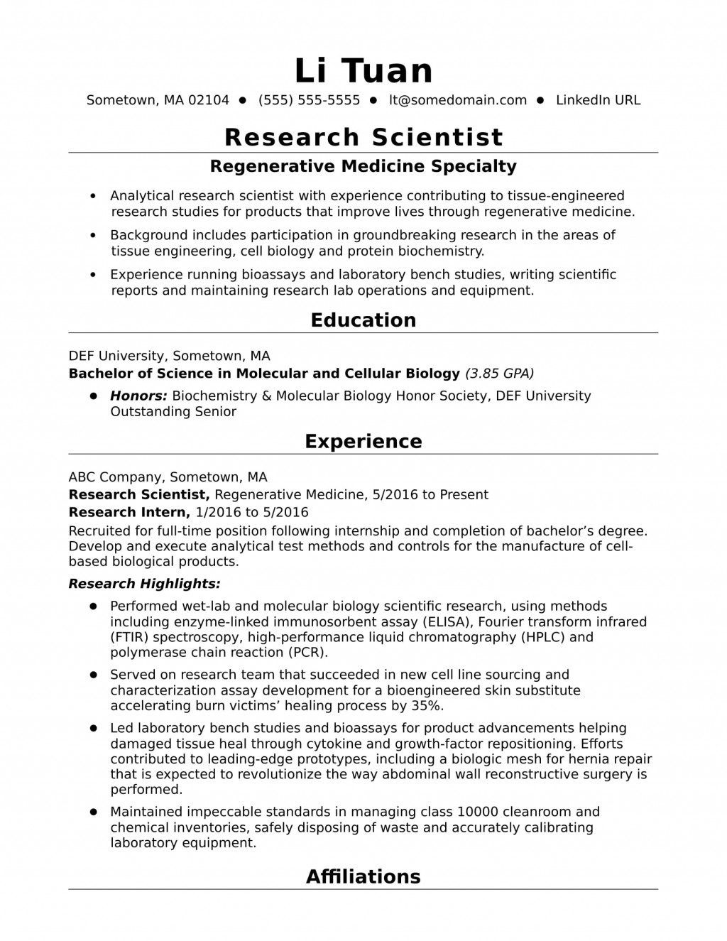 009 Research Scientist Entry Level Cell Biology Paper Unbelievable Topics Large