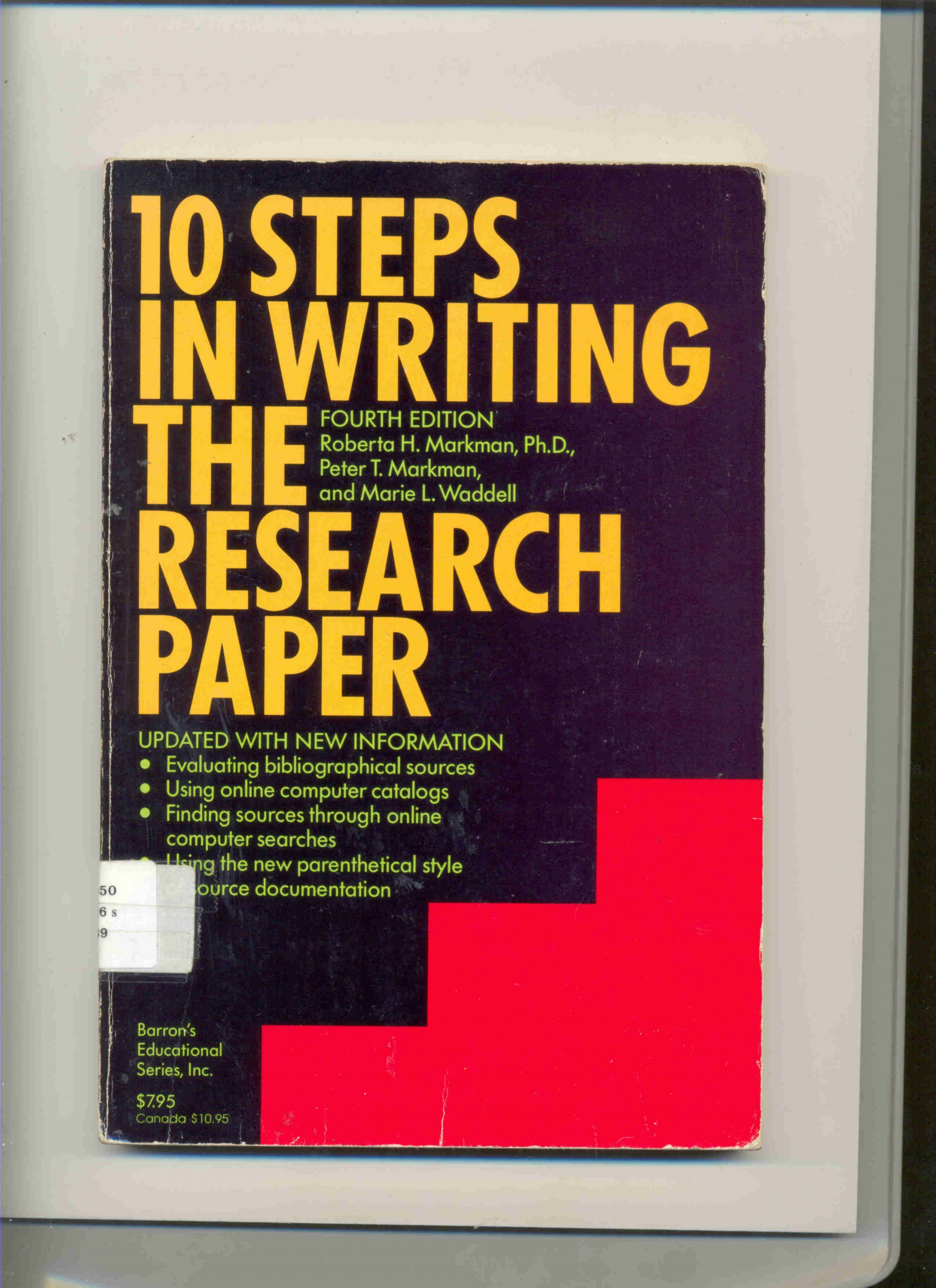 009 Steps In Writing The Research Paper Markman 1633 1 201011053654 Awful 10 Pdf 1920