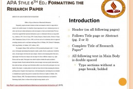 010 Apa 6th Edition Research Paper Headings Apastyle6thed Exceptional