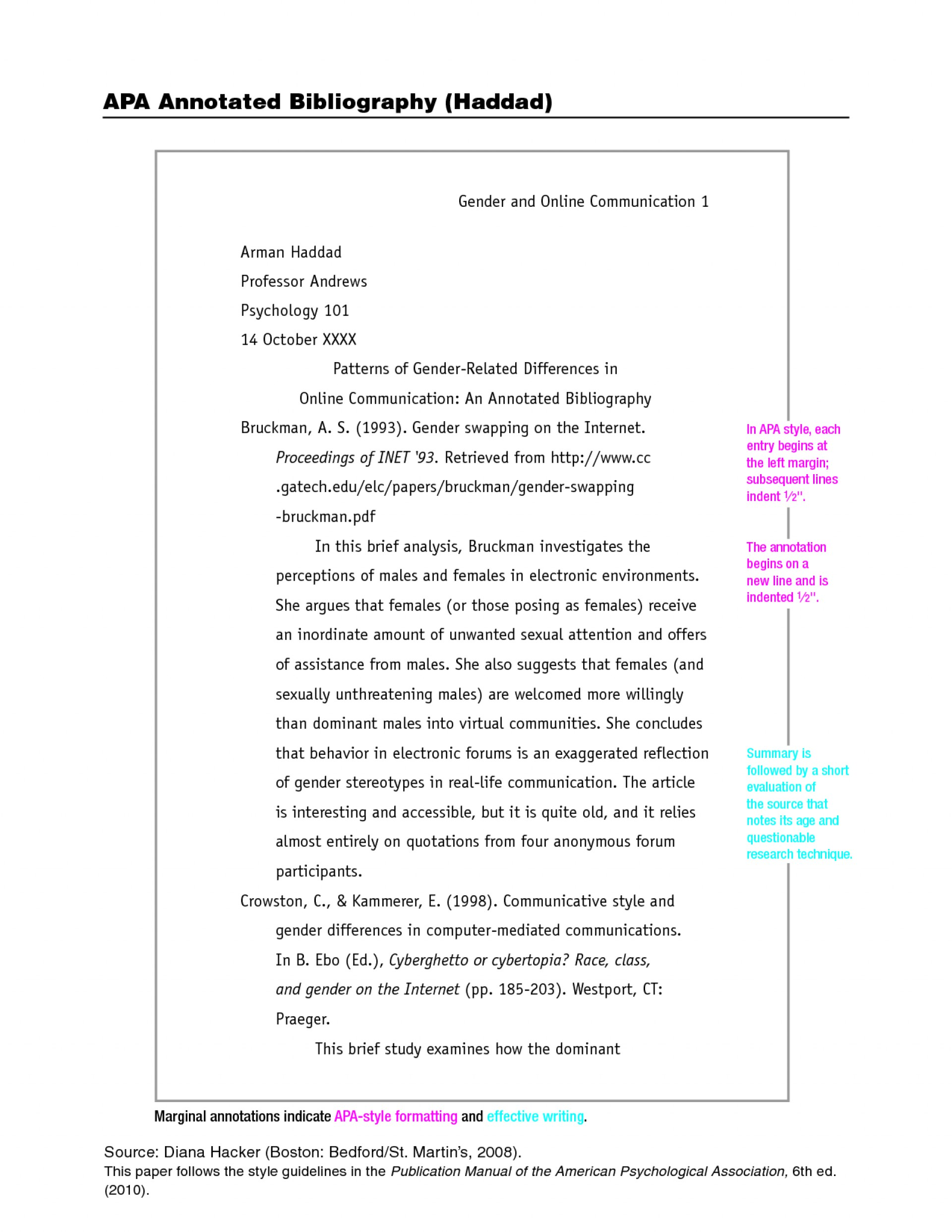 010 Apa Style Research Paper Template 6th Imposing Edition Example Format Sample Of 1920