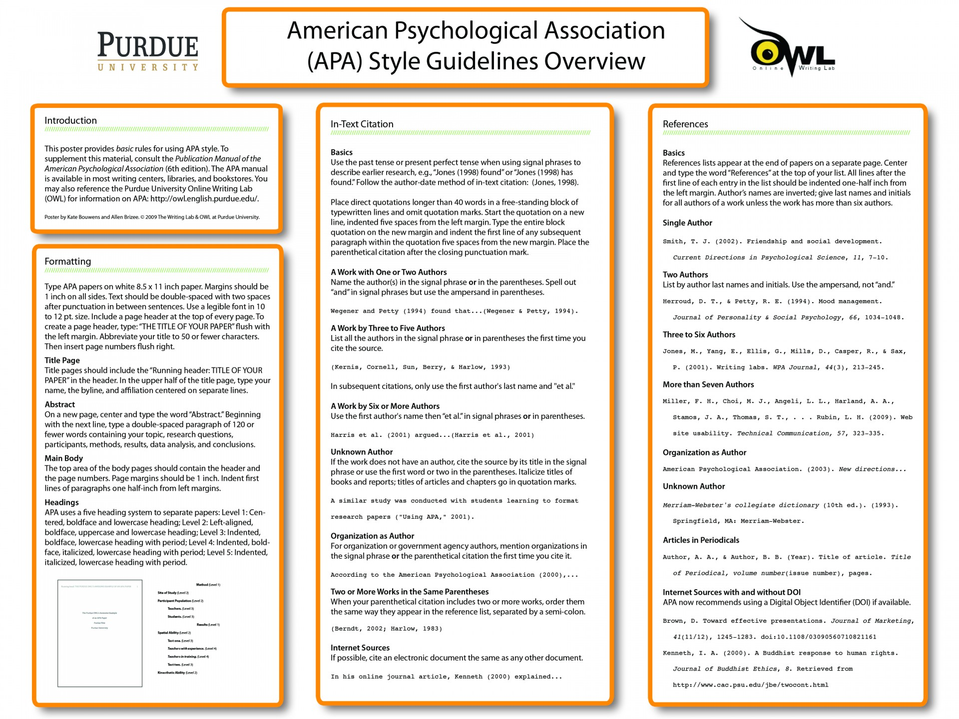 010 Apaposter09 Research Paper How To Write An Outline For Purdue Amazing A Owl 1920