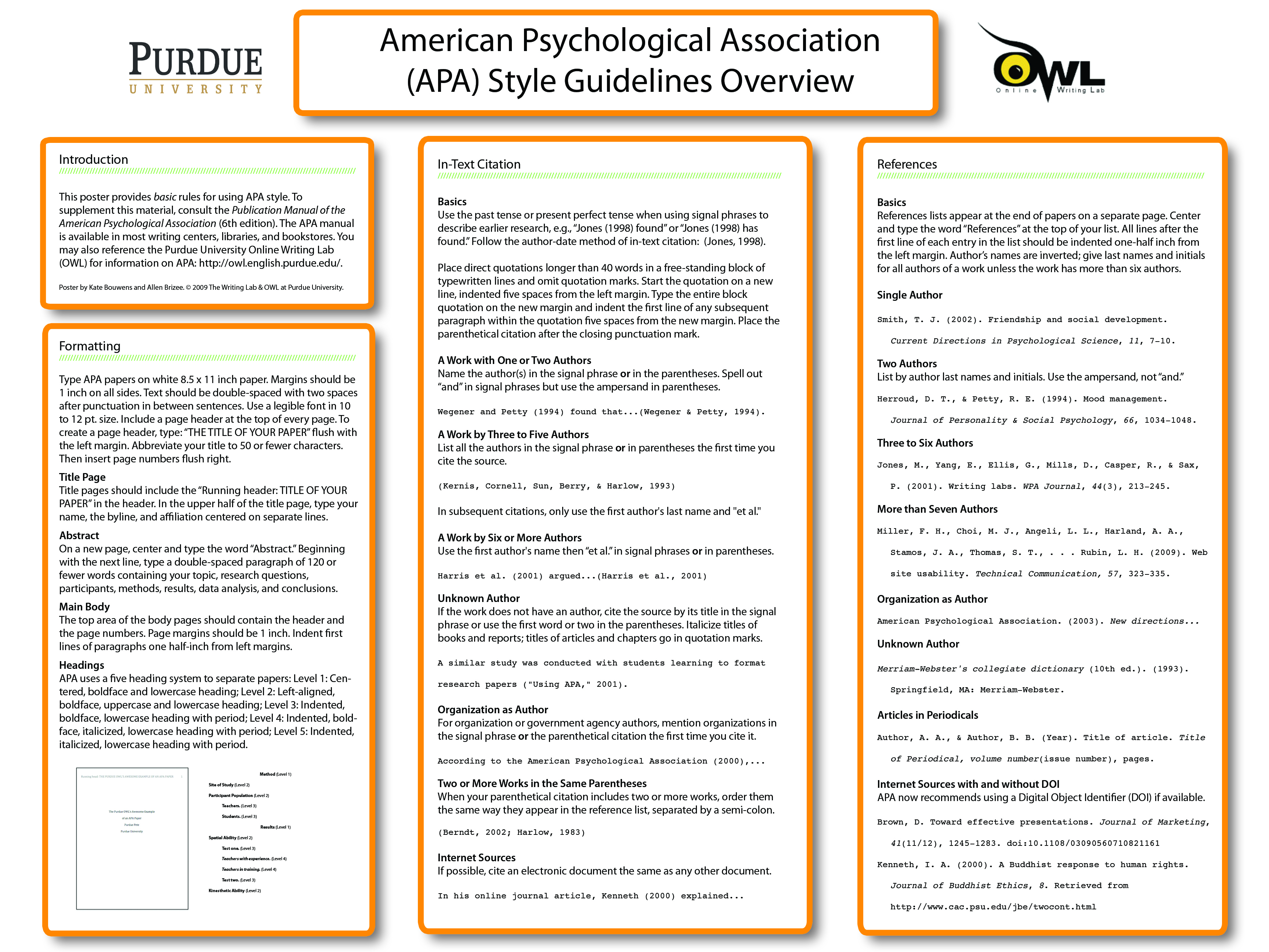 010 Apaposter09 Research Paper How To Write An Outline For Purdue Amazing A Owl Full