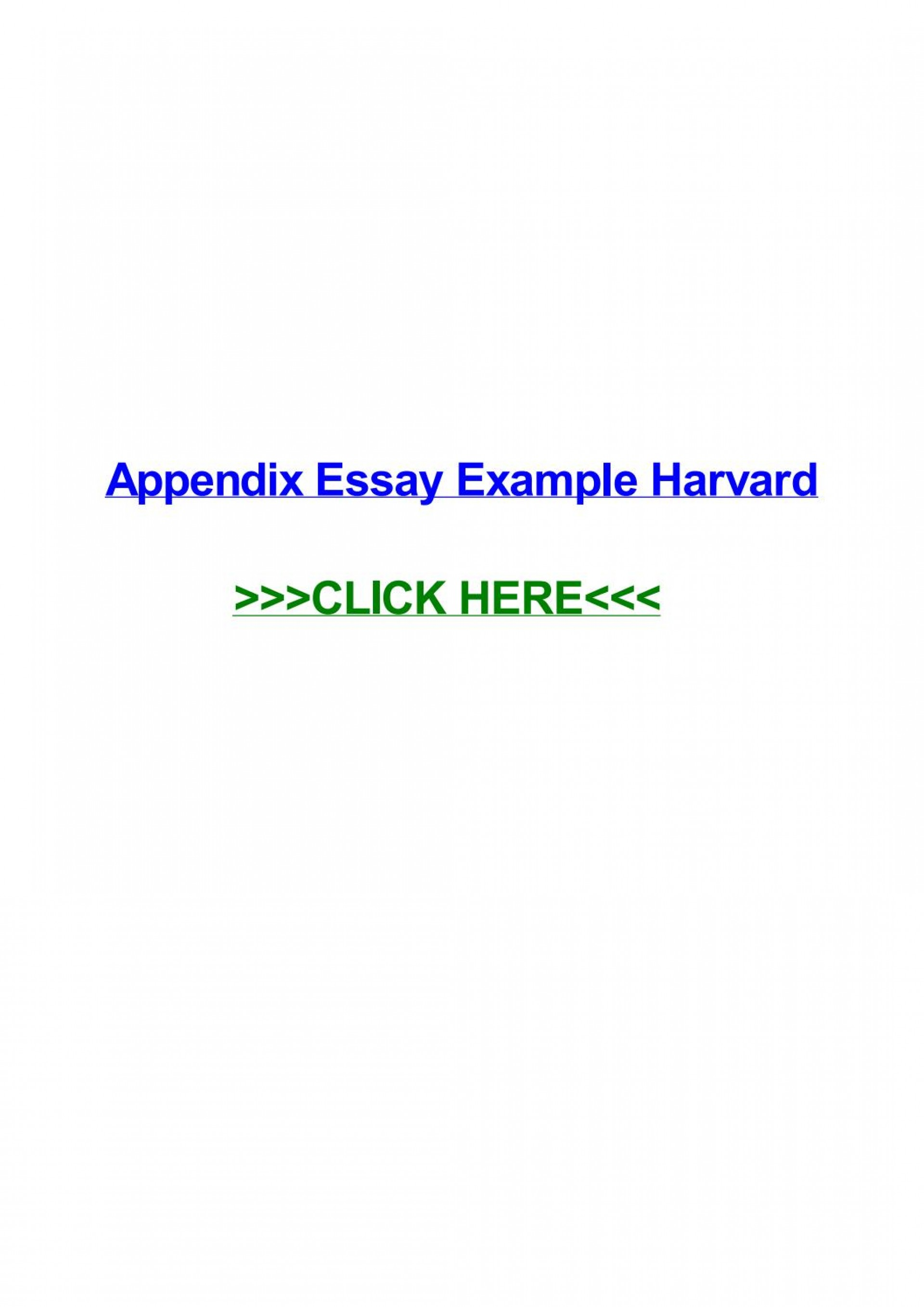 010 Appendices Example In Research Paper Harvard Style Page 1 Excellent 1920