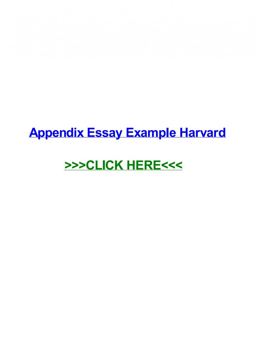 010 Appendices Example In Research Paper Harvard Style Page 1 Excellent