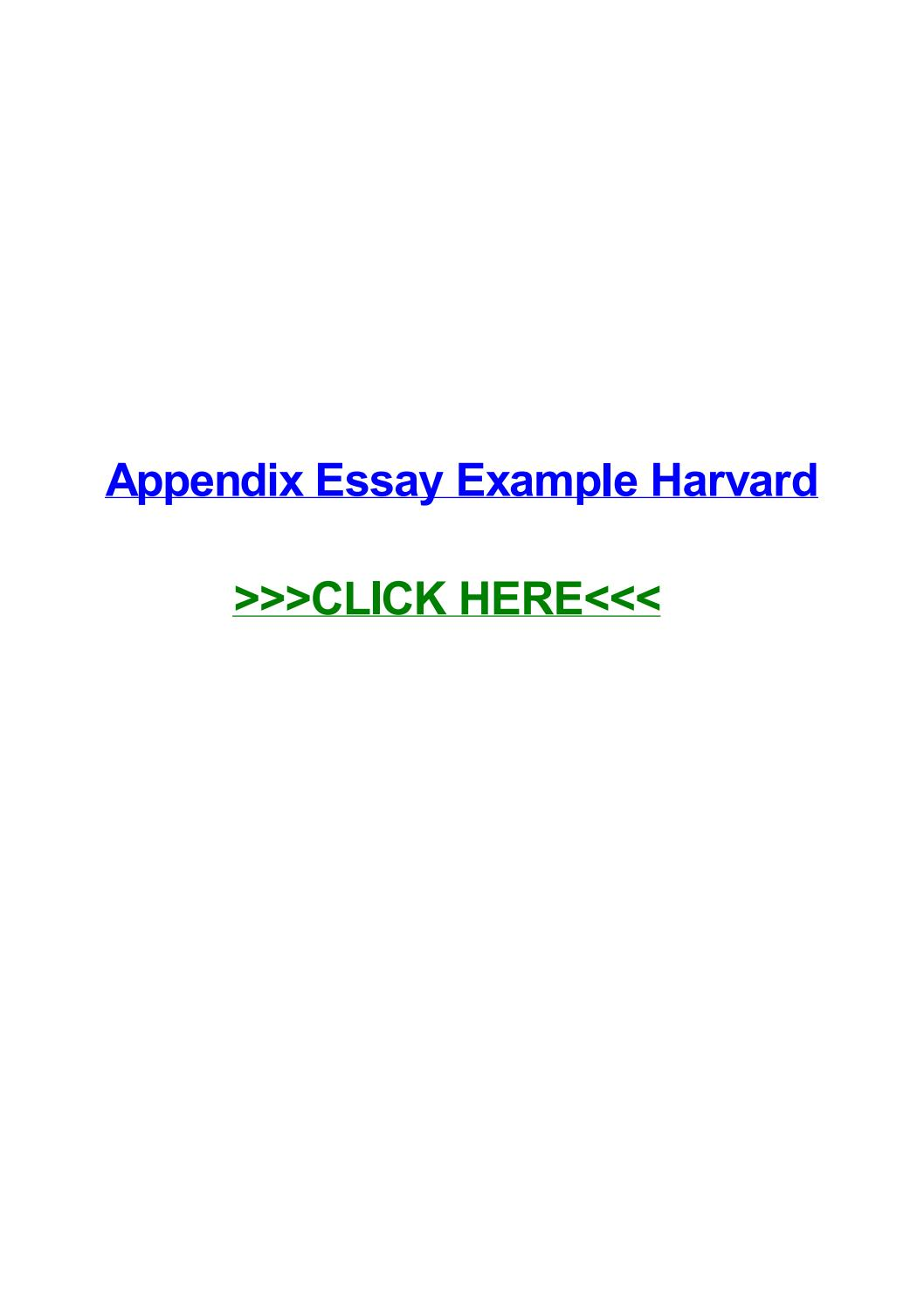 010 Appendices Example In Research Paper Harvard Style Page 1 Excellent Full