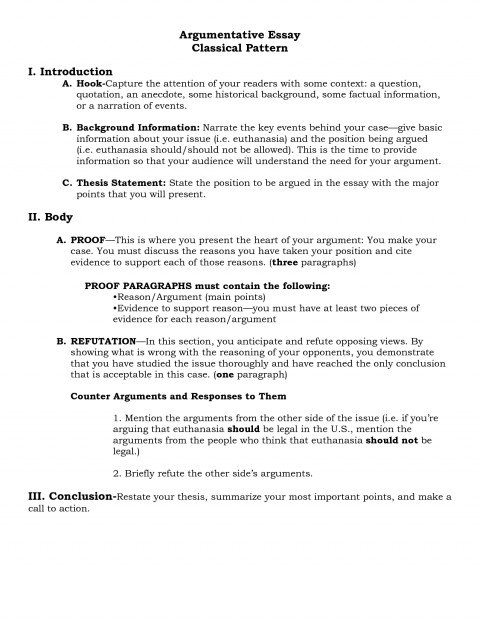 010 Argument Essayucture Kays Makehauk Co For Argumentative Example Research Image Inspirations Template Paper Psychology College Rare Outline 480
