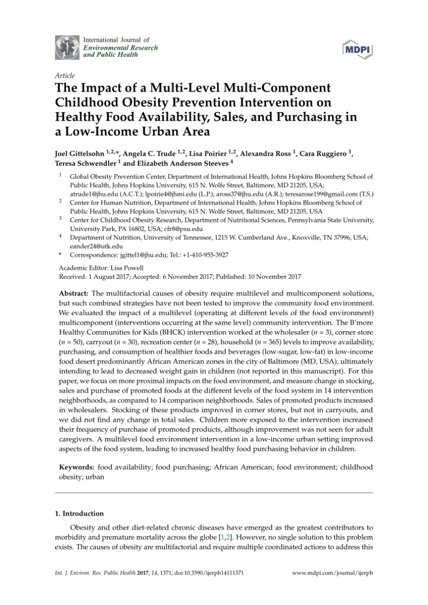 010 Childhood Obesity Research Paper Introduction Frightening