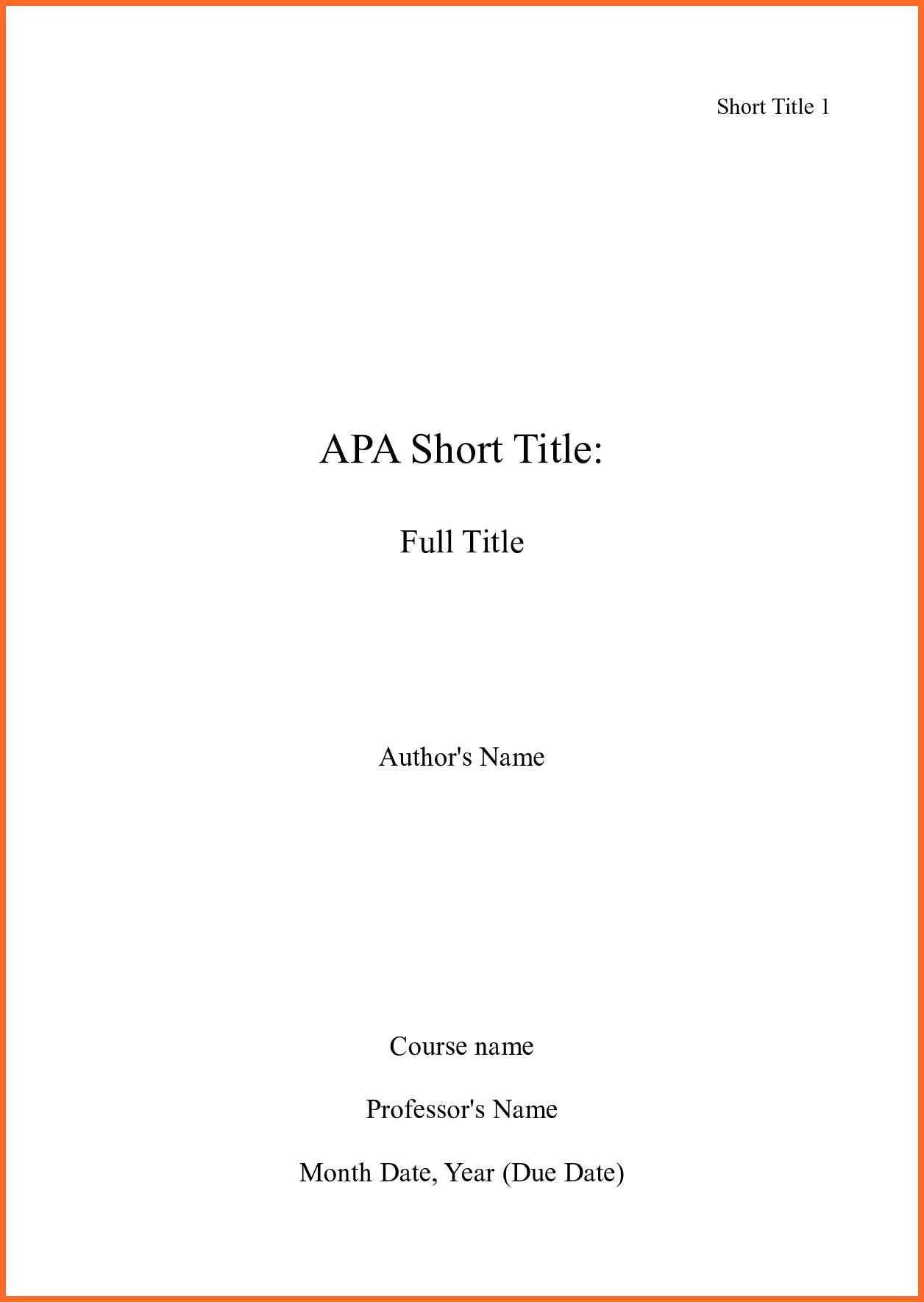 010 Cover Page Template Mla Soap Format X With For Research Best Paper Reference Example Full