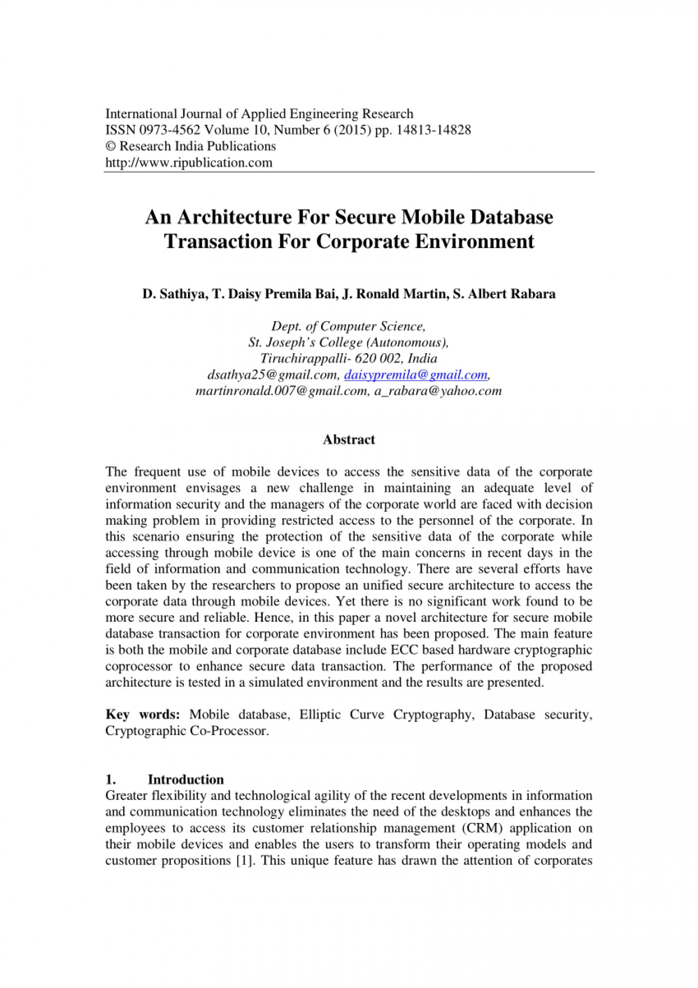 010 Database Security Research Paper Abstract Fascinating 1400