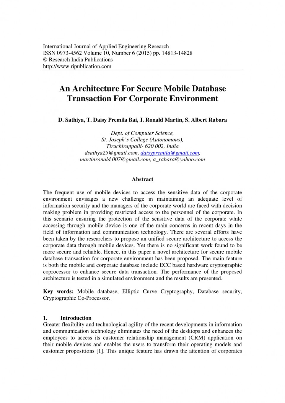 010 Database Security Research Paper Abstract Fascinating 960