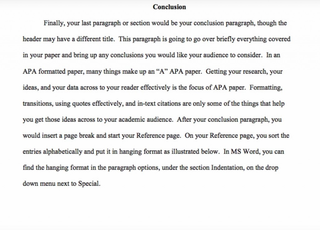 010 Example Of Apa Research Paper Fantastic Conclusion Pdf And Recommendation Large