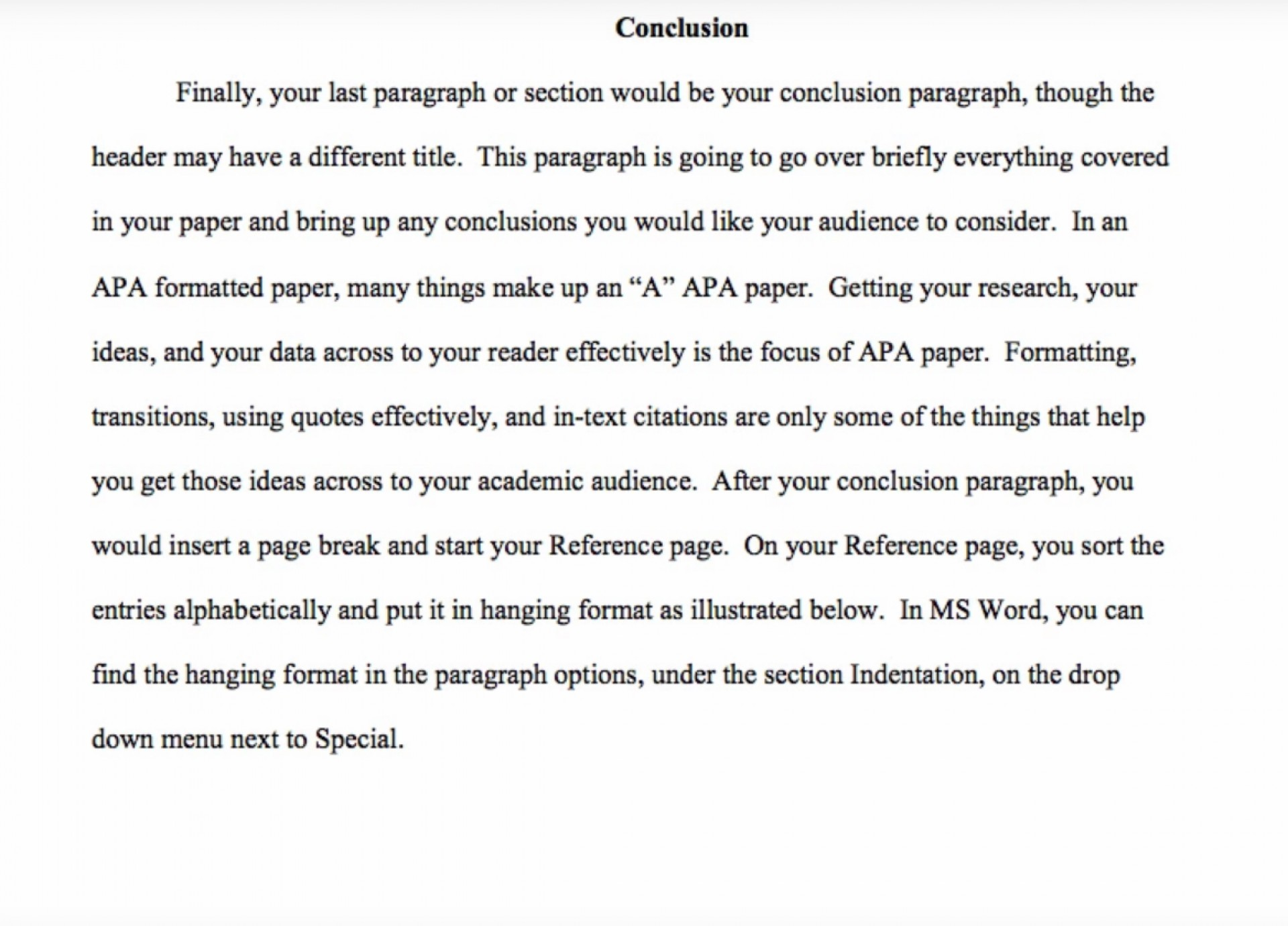 010 Example Of Apa Research Paper Fantastic Conclusion Pdf And Recommendation 1920