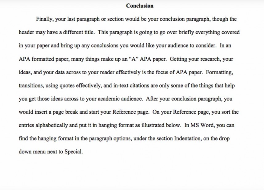 010 Example Of Apa Research Paper Fantastic Conclusion History