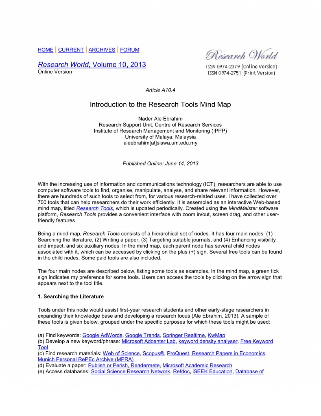010 Free Online Research Paper Publication Astounding Large