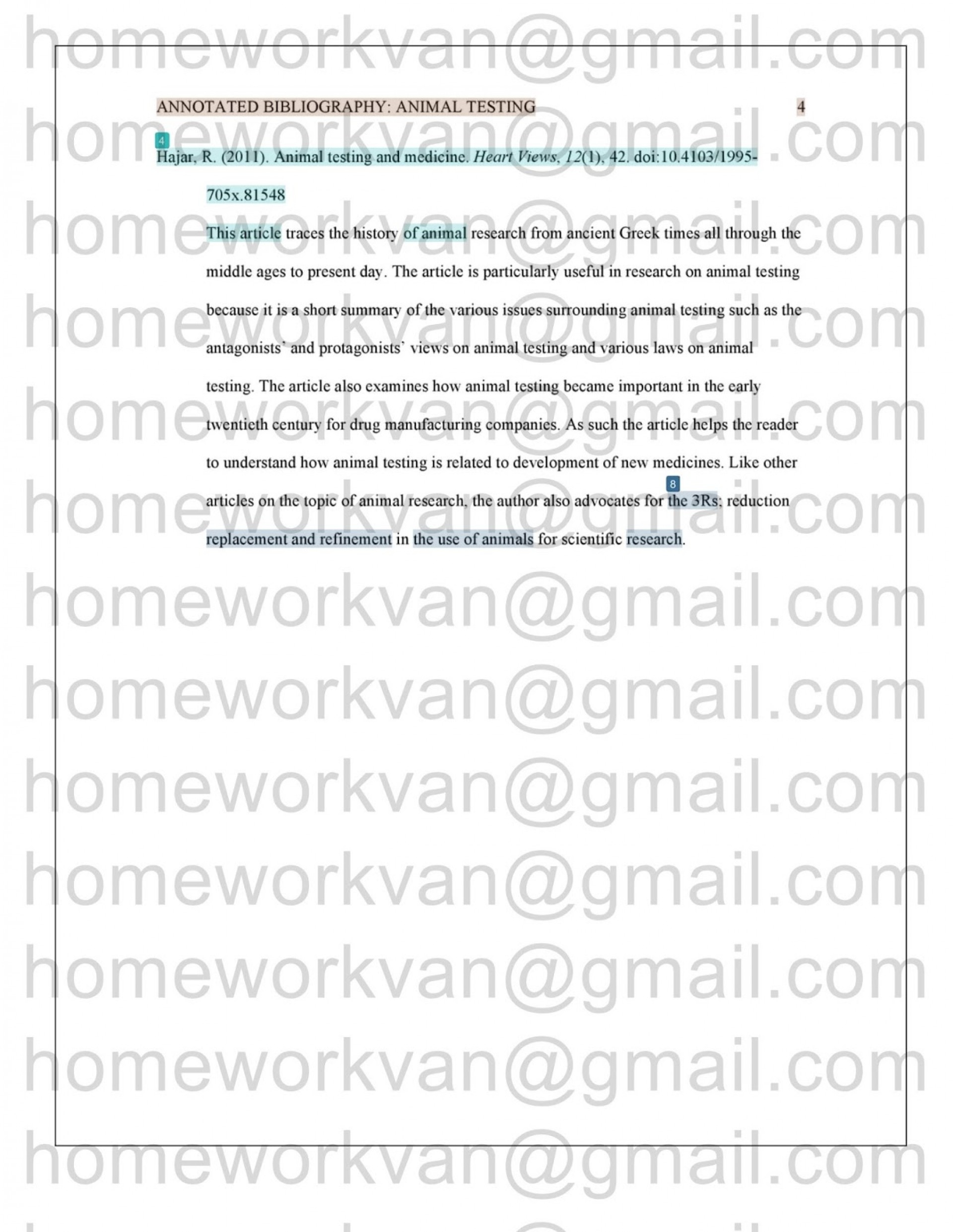 010 Homeworkvan2bannotated 3 Research Paper Animal Testing Awful Questions 1920