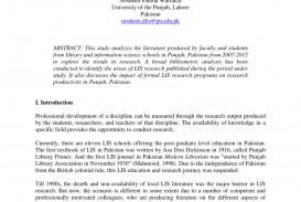 010 How To Publish Research Paper In Pakistan Shocking Medical