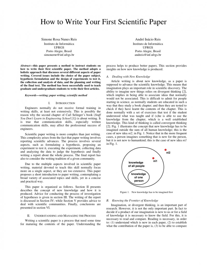 010 How To Write Scientific Paper Research The Results Section Of Impressive A Example