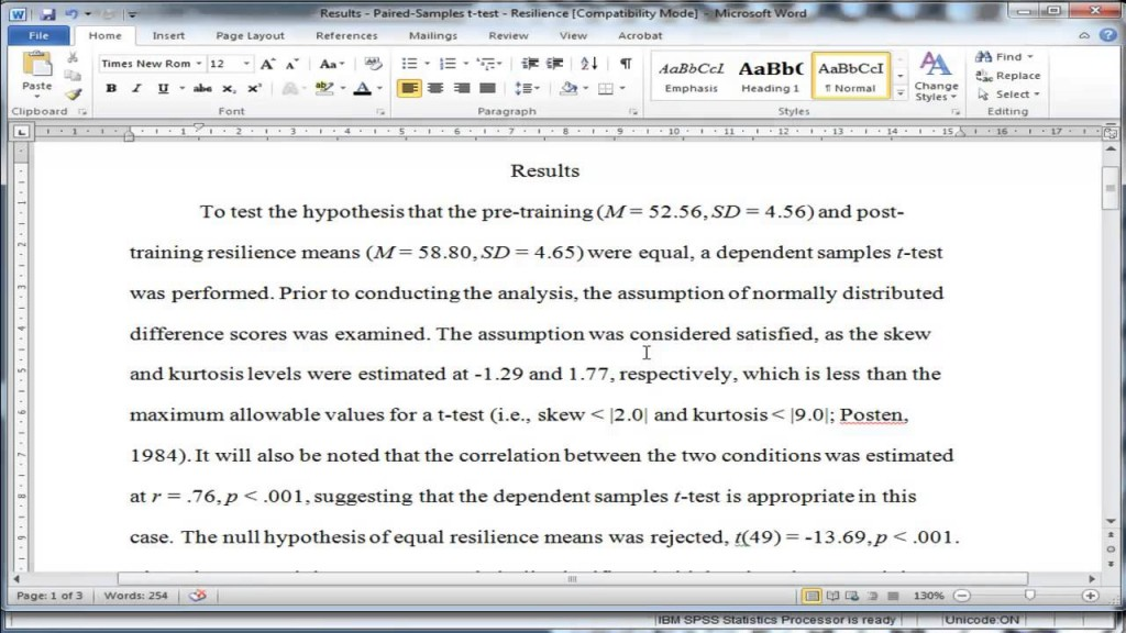 010 How To Write Statistical Results In Research Paper Exceptional A Large