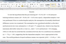 010 How To Write Statistical Results In Research Paper Exceptional A