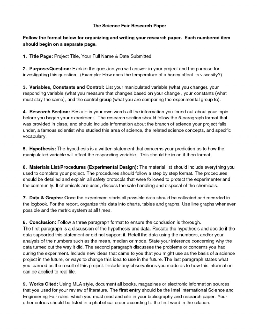 010 Ideas Of Science Fairearch Paper Outline Unique Political Guidelines Guidelinesresize8001035 Best Website To Read Papers Outstanding Research Large