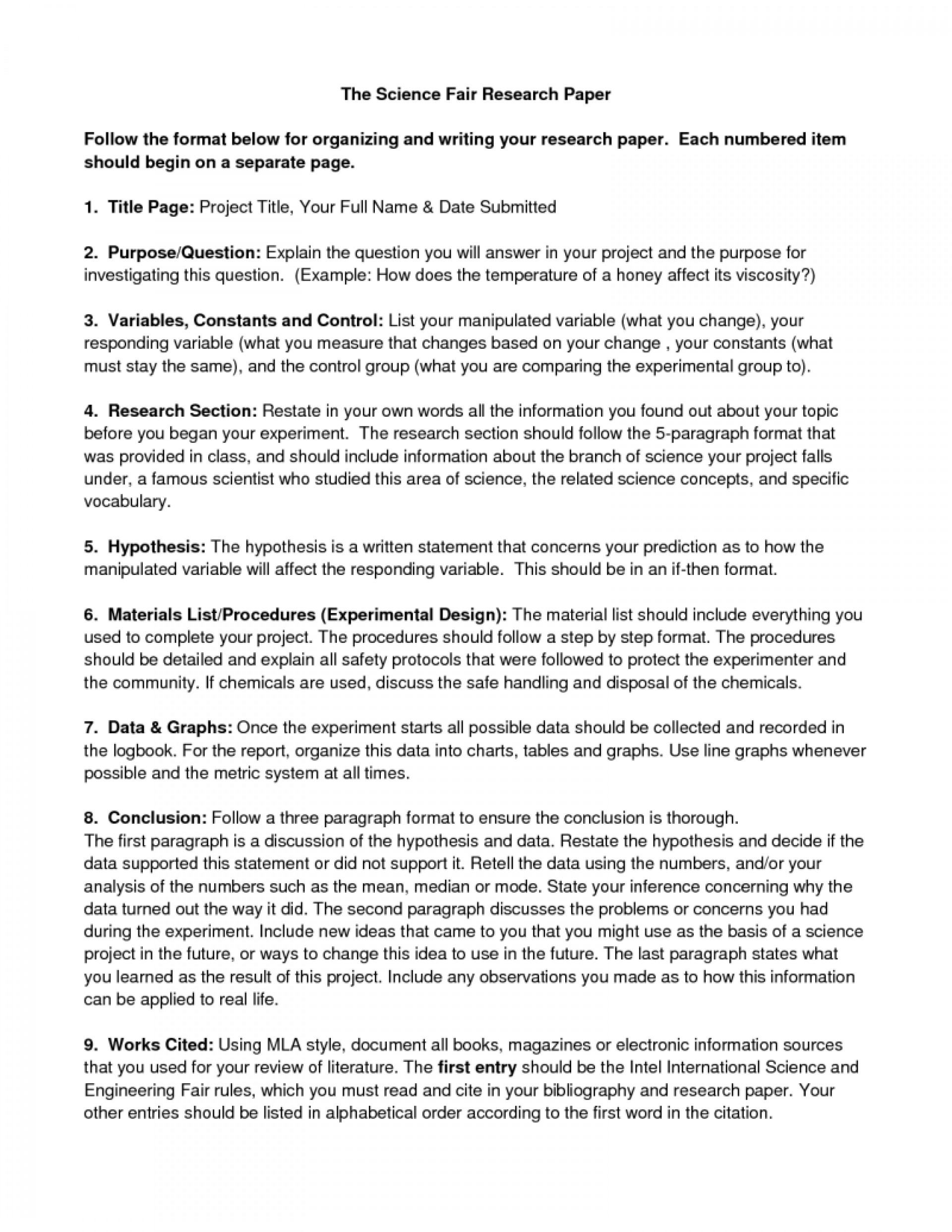 010 Ideas Of Science Fairearch Paper Outline Unique Political Guidelines Guidelinesresize8001035 Best Website To Read Papers Outstanding Research 1920